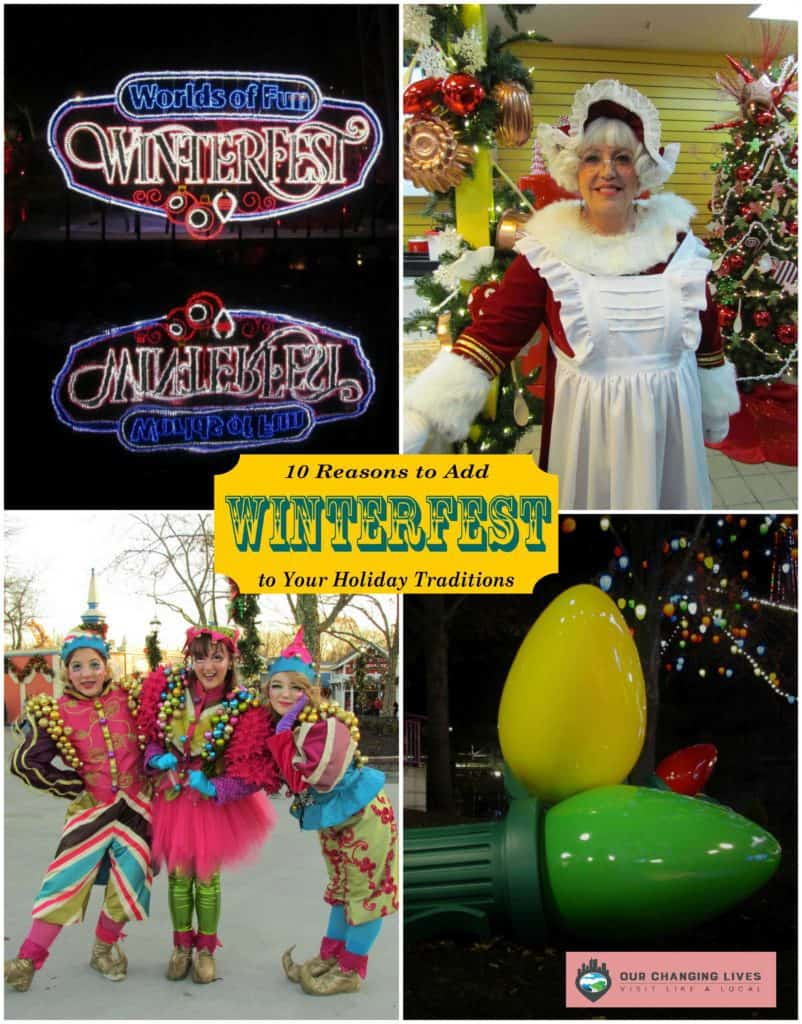 Winterfest-Worlds of Fun-Kansas City-Christmas-theme park-festival-artisans-shows-live performances-characters-musicians