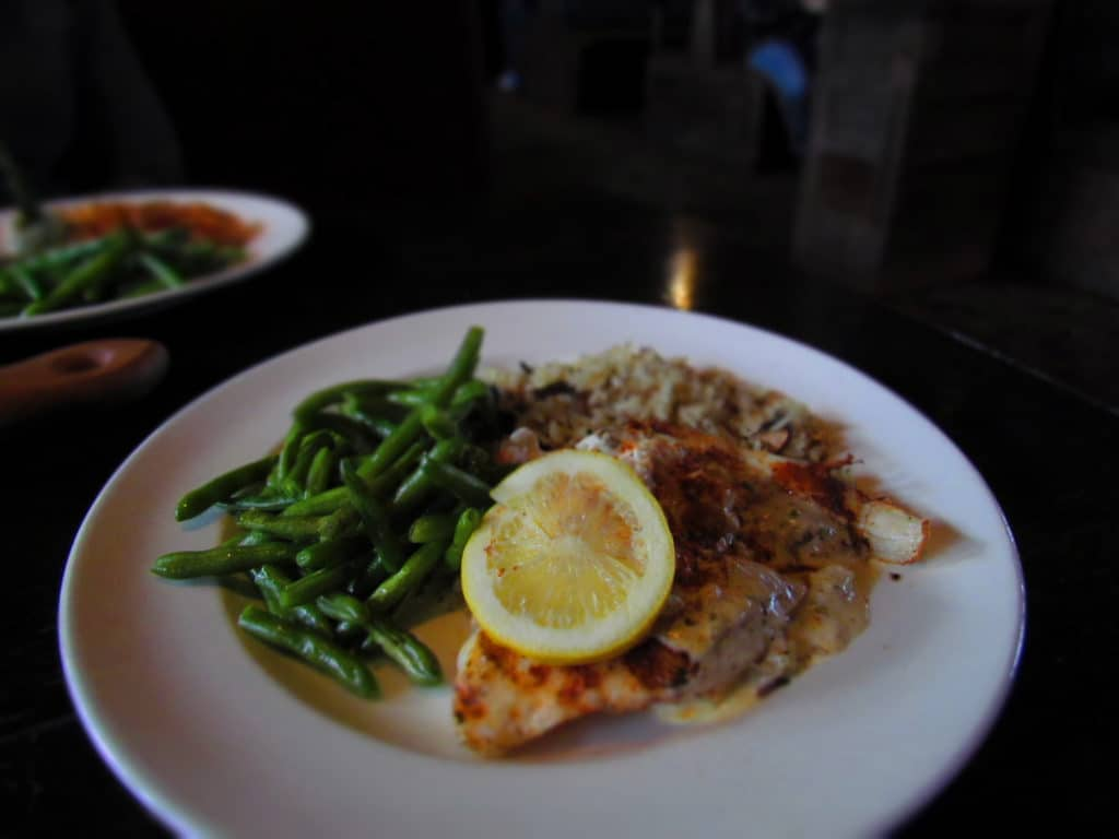 A plate of Grouper with Crab meat is light and delicious.