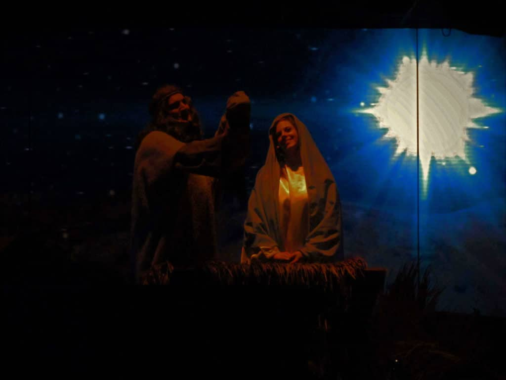 The nativity story is another segment of the evening's entertainment.