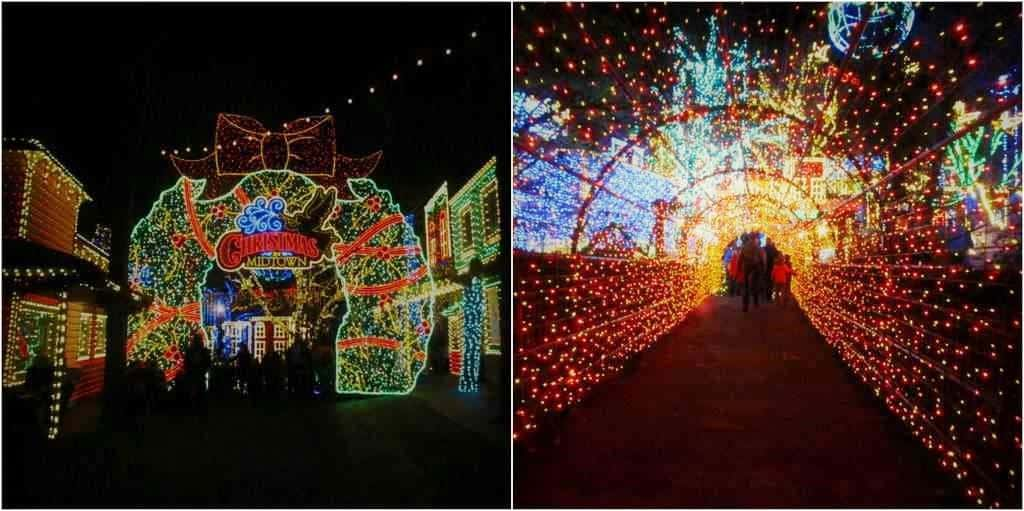 Silver Dollar City is home to 6.5 million lights during the Old Time Christmas Festival.