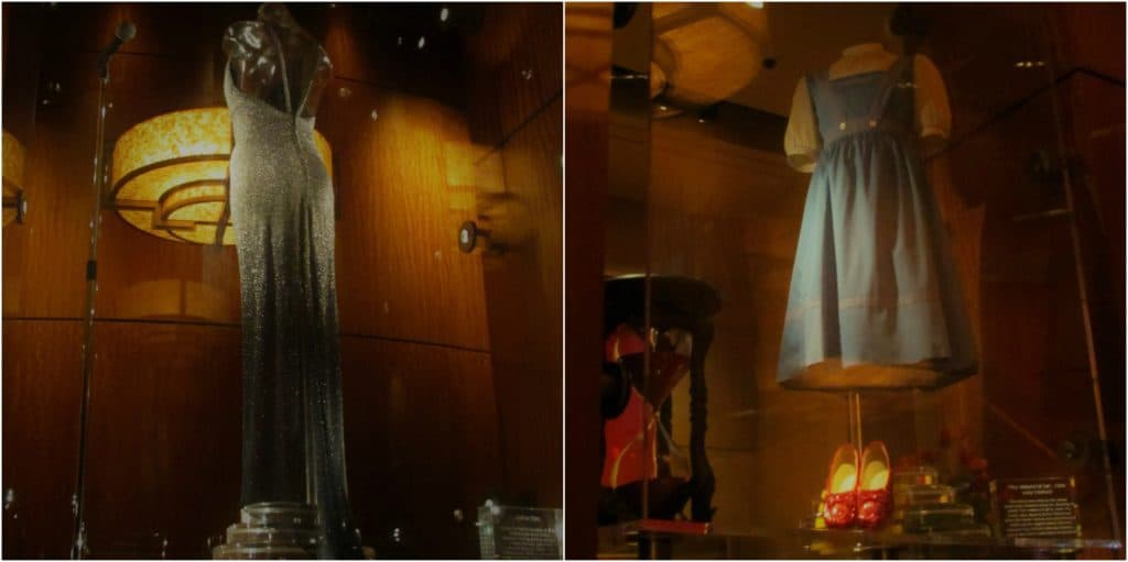 Movie memorabilia adorns the walls and display cases in Final Cut steakhouse.