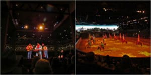 Entertainment is the name of the game at Dixie Stampede in Branson, Missouri.