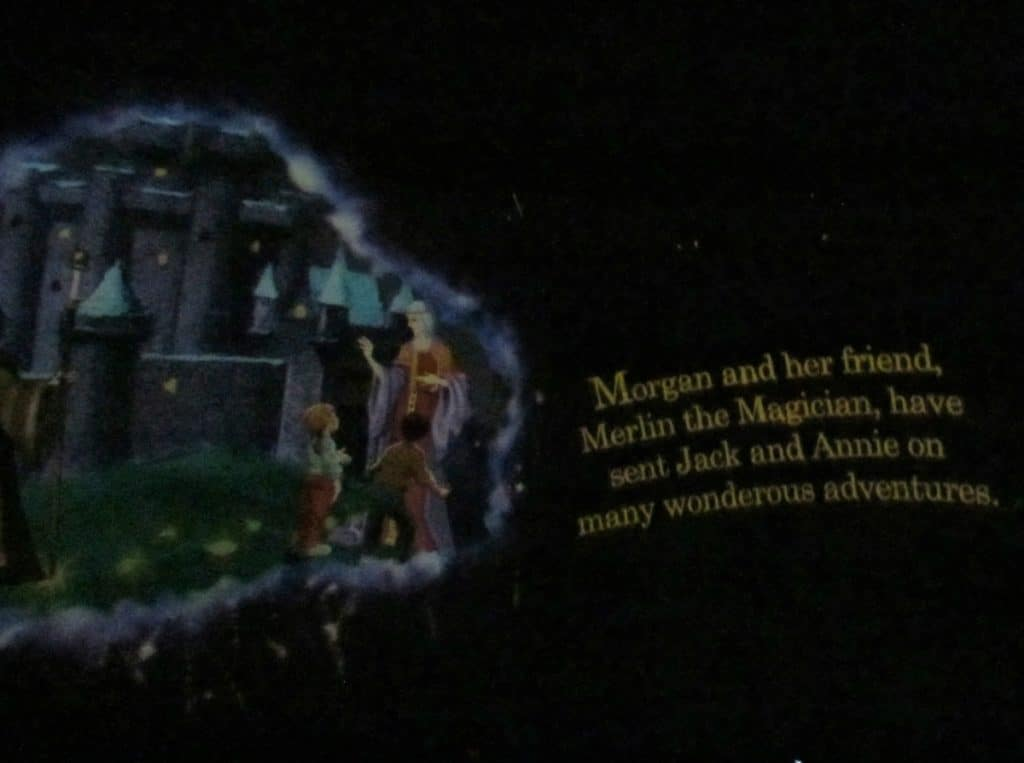 The start of the planetarium show introduces the audience to the main characters.