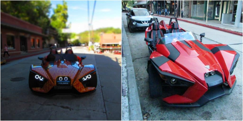 Eureka Springs draws plenty of groups like the Spyder drivers who were there in September.