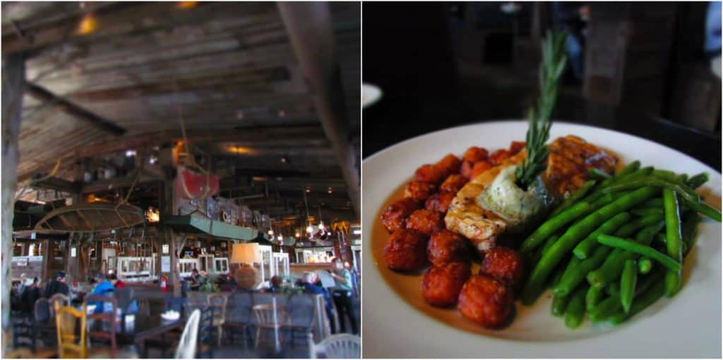 The White river Fish House offers delicious seafood dishes in a comfortable setting.