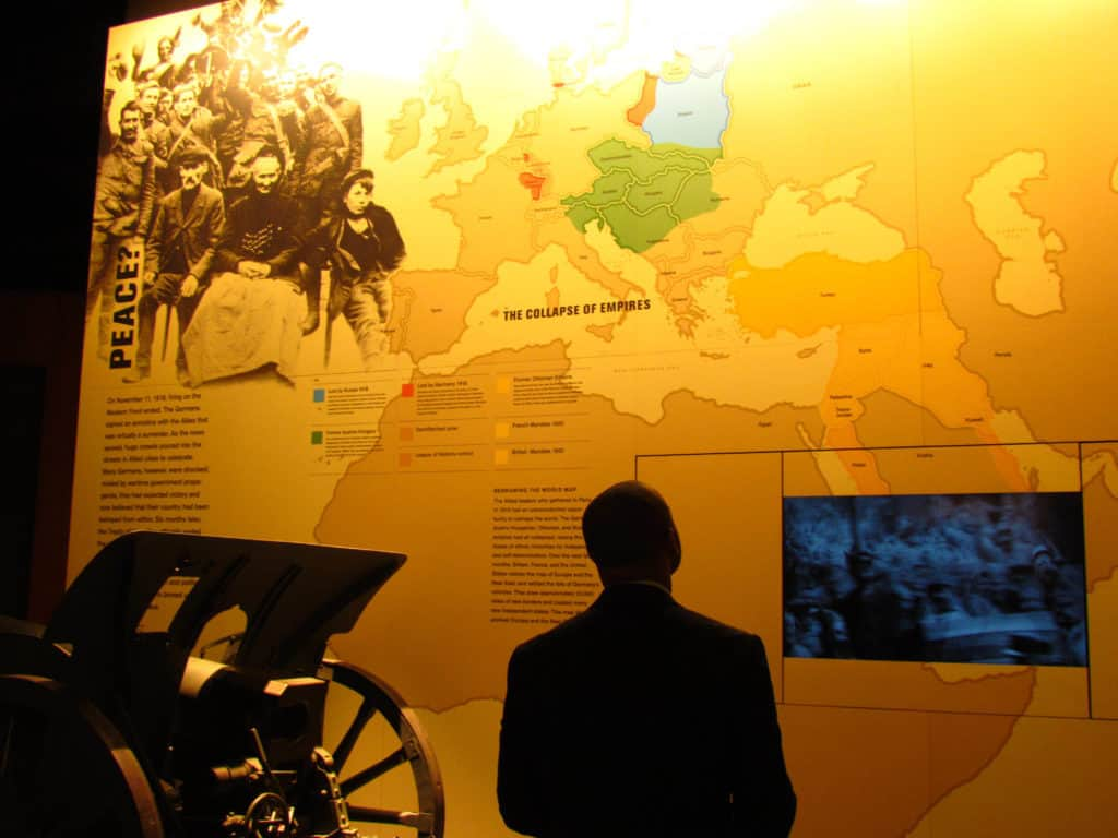 A large display highlights the results of WW! and the splintered countries that were left in the wake.