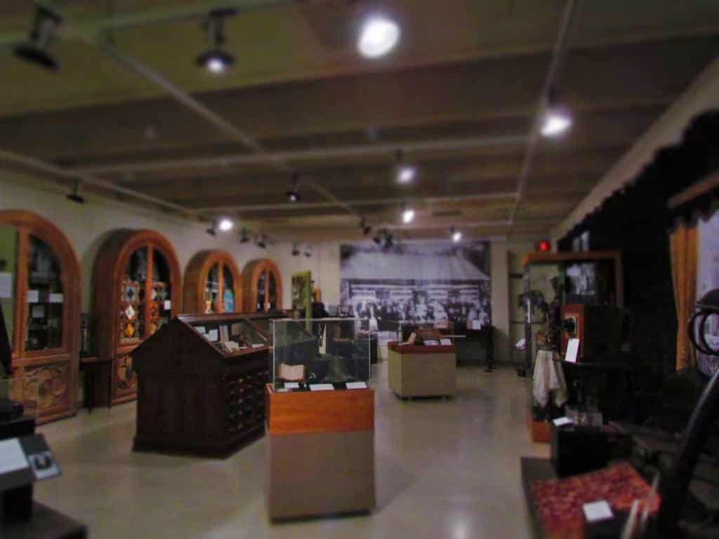 An exhibit room in the Riley County Historical Museum.