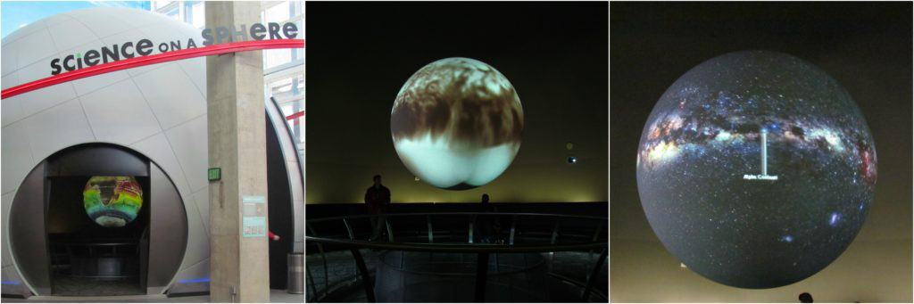 Science on a Sphere offers a preview of the great shows available at the planetarium.