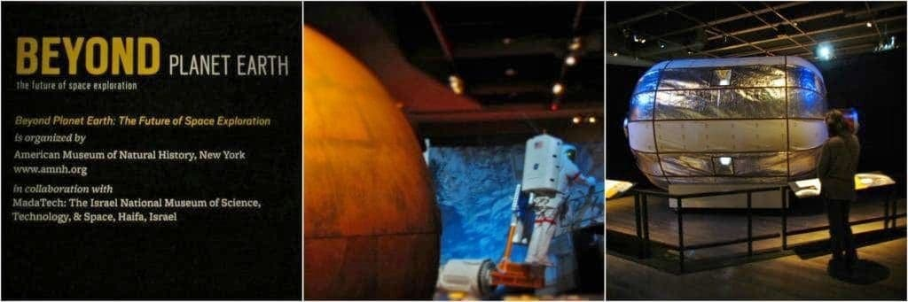 Beyond Earth was a temporary exhibit designed to showcase space travel.