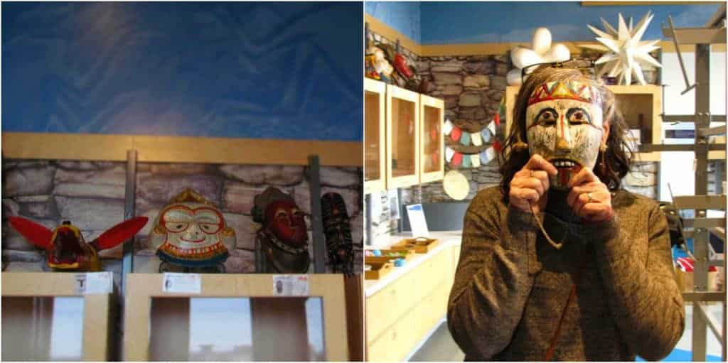 A collection of masks can provide education, as well as entertainment for visitors to the Museum at Prairiefire.