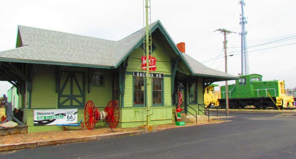An old Katy train depot houses the Galena Mining and History Museum.