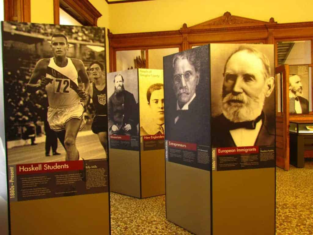 The Watkins Museum offers plenty of information on the beginnings of Lawrence, Kansas.