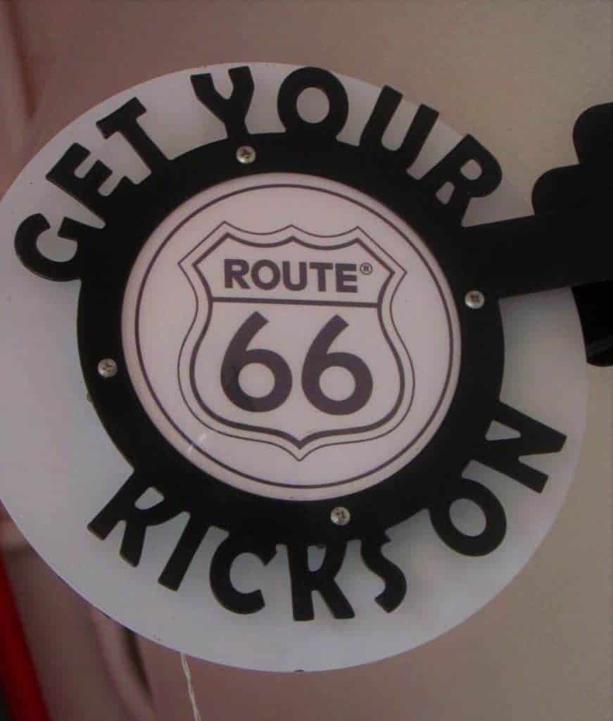 "The slogan ""Get your kicks on Route 66"" has been around for decades."