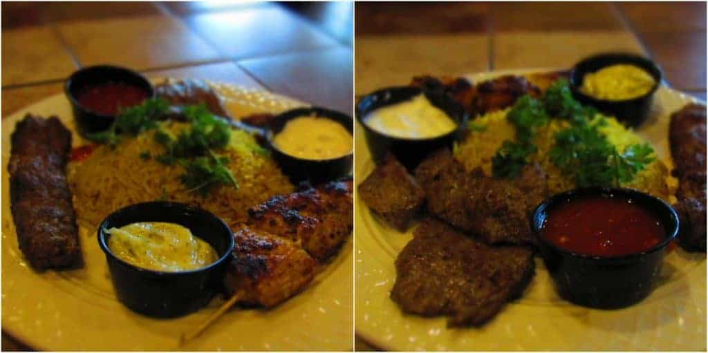 The Mixed Grill Platter has plenty of food for two to share.