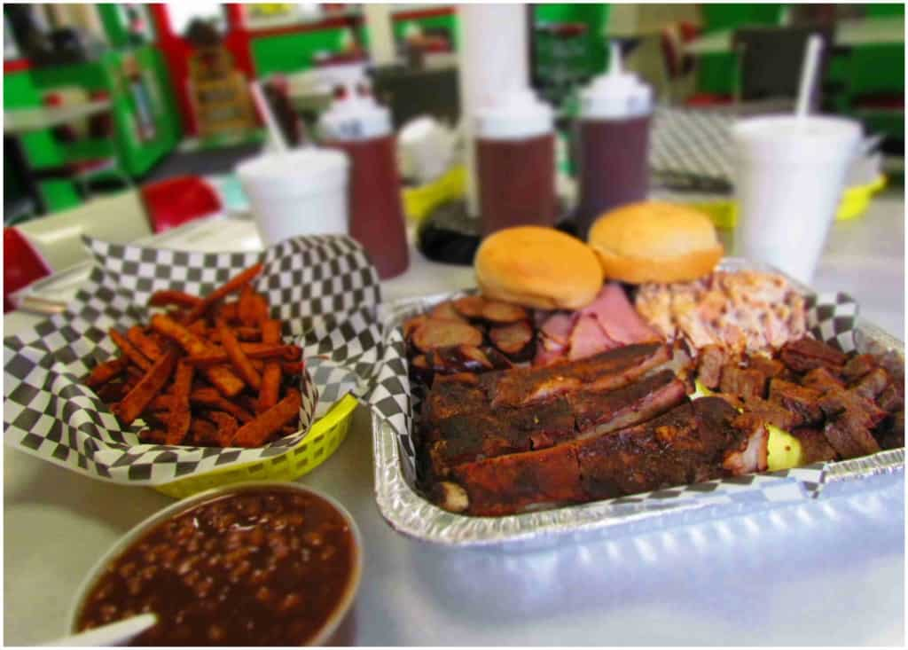 The Sampler Platter offers more than enough food for two or three people.