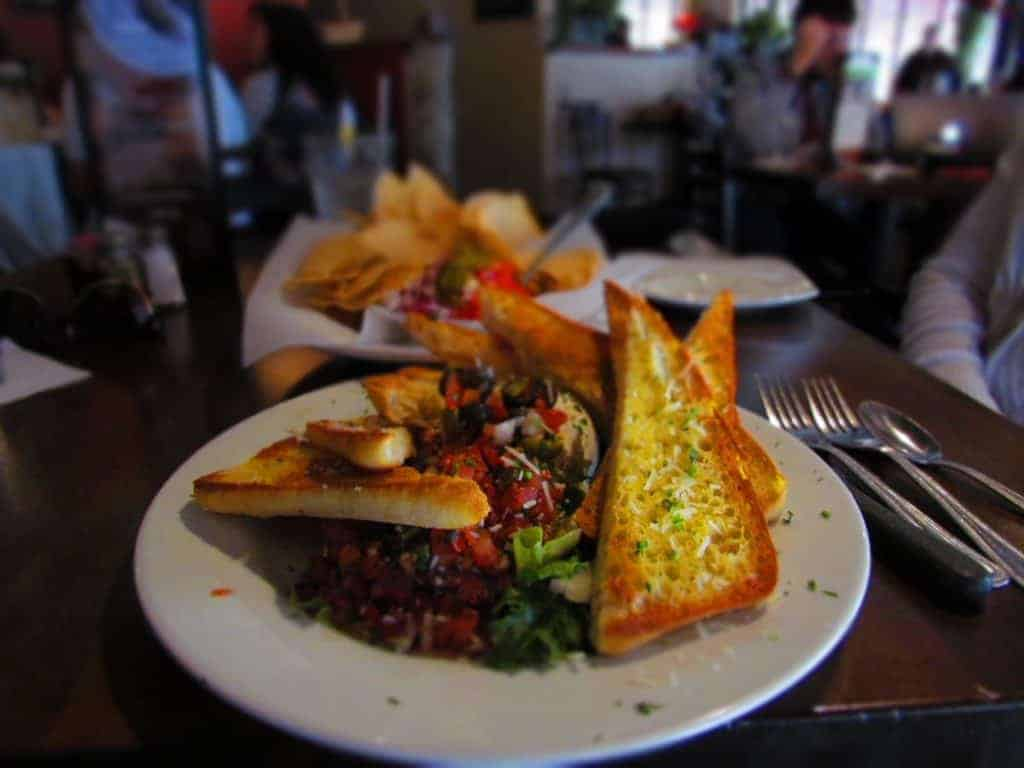 The bruschetta appetizer at Red Onion Cafe is reason enough to make a visit to Joplin, Missouri.