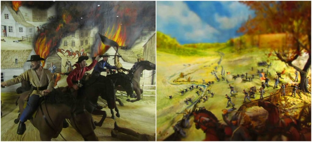 Details in the dioramas show the skill of the artist.