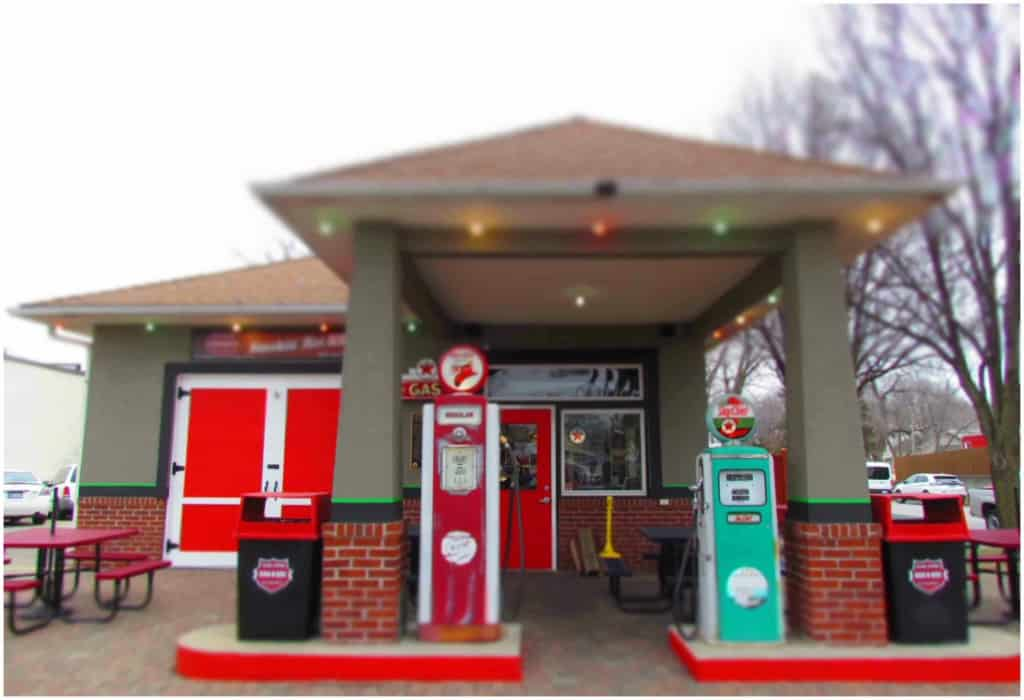 A converted gas station has become Filling Station BBQ in downtown Lee's Summit.