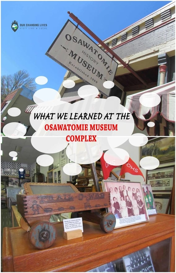 Osawatomie Museum Complex-railroad museum-history-Miami County-John Brown-caboose-fire marks