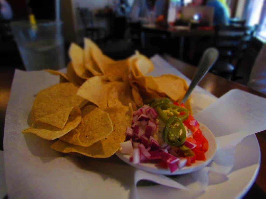 Smoked Chicken Dip is a favorite with many diners at Red Onion Cafe.