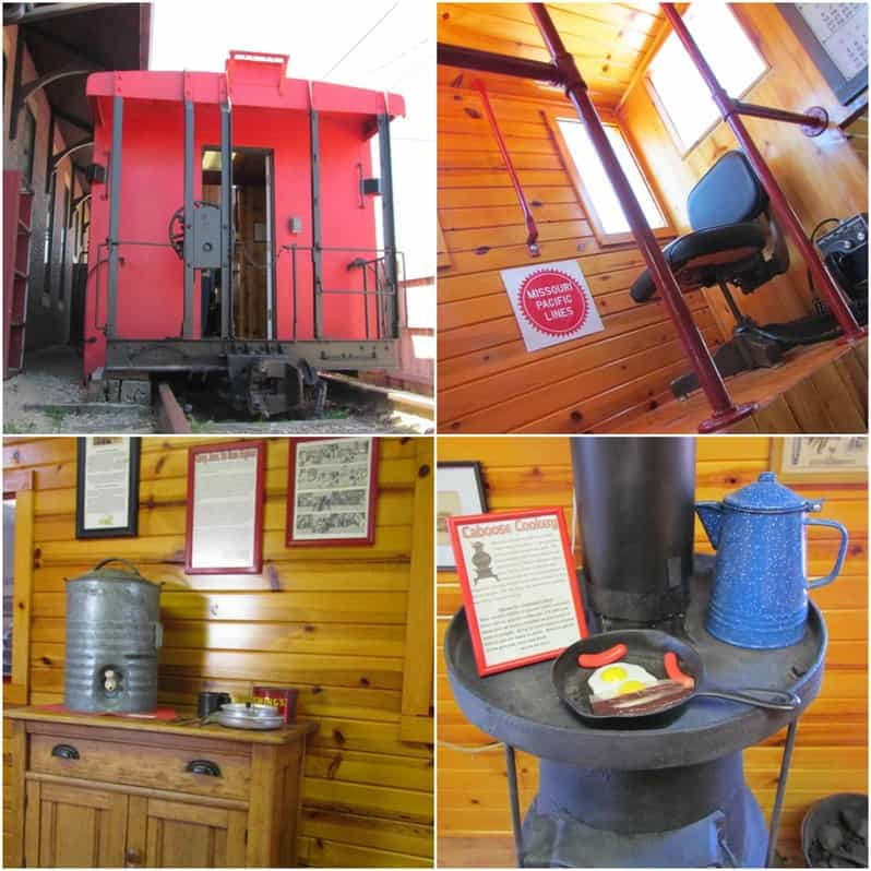 A refurbished caboose is used by the museum as an educational tool.
