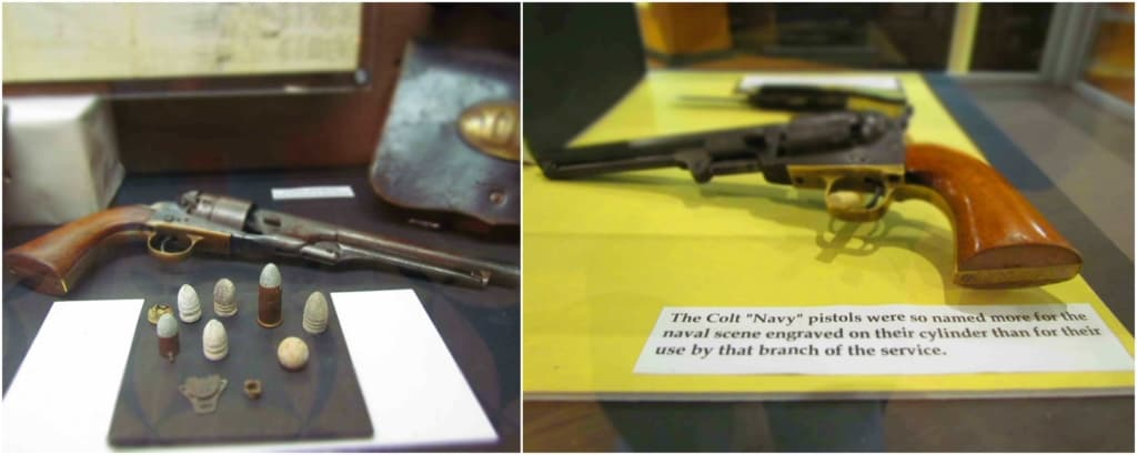 Handguns were common weapons used by participants in the Civil War.