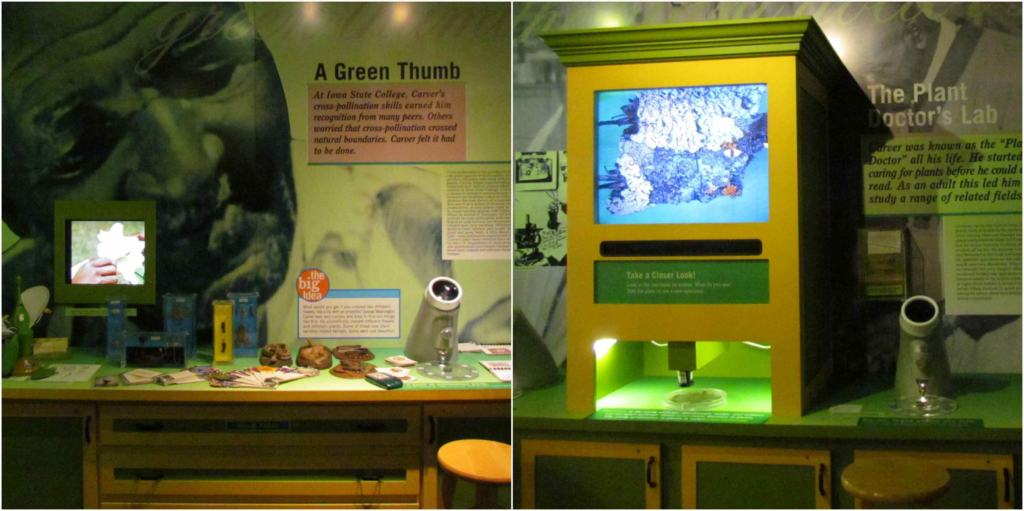 The Carver National Monument has interactive exhibits that can be enjoyed by guests of all ages.