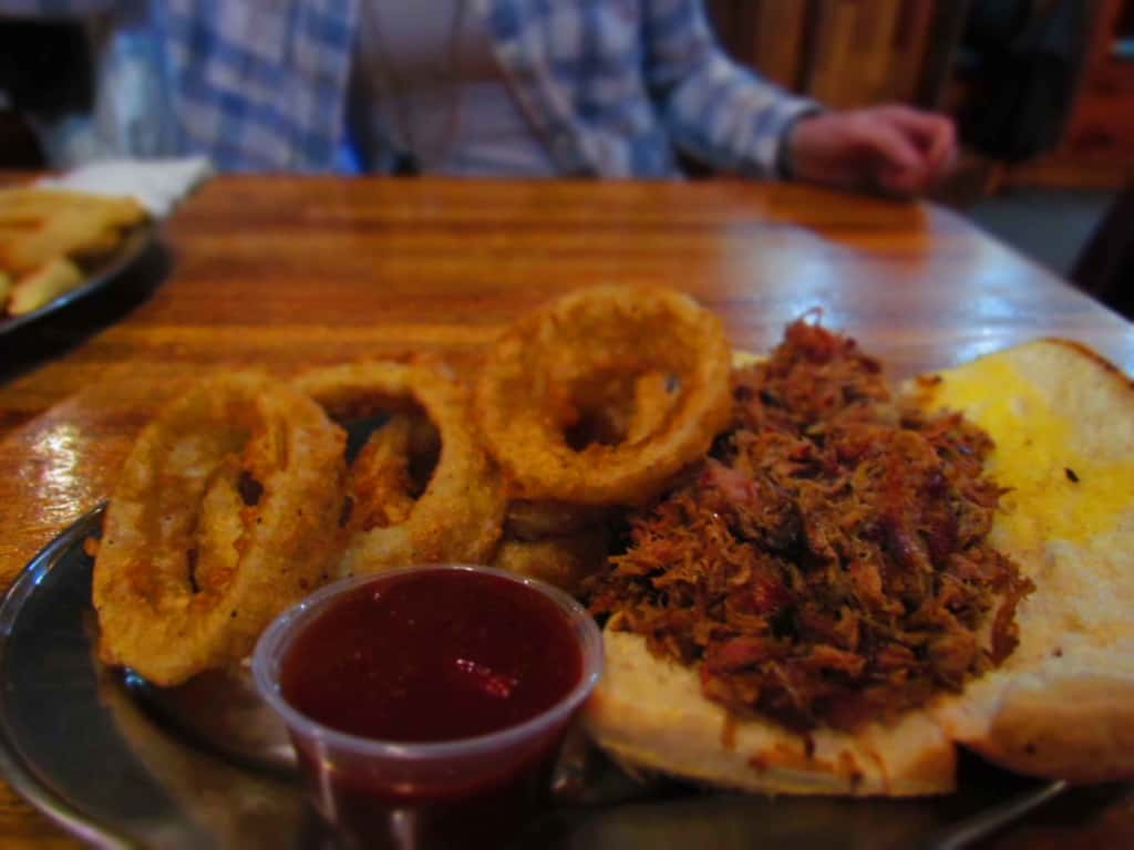 The pulled pork at Cafe Telegraph rivals that we have tried in Kansas City.