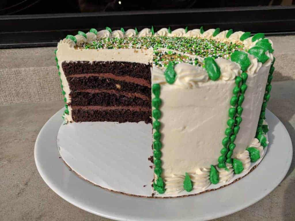 Shamrock Cake is a decadent dessert option.