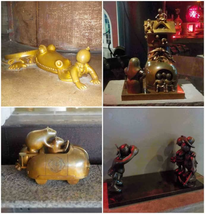 Bronze sculptures are found throughout the building, but you have to keep an eye out to spy some of them.