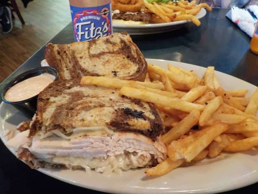 The Turkey Reuben sandwich is a healthier spin on a classic sandwich.