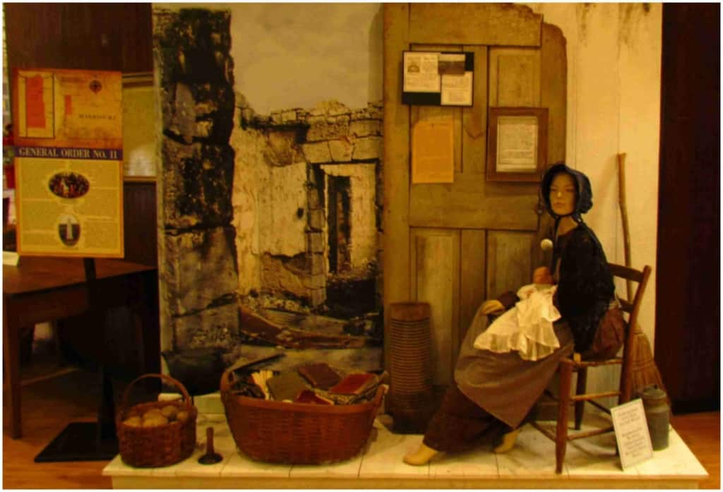 An exhibit shows the struggles faced by the innocent residents of the area in which skirmishes and battles were waged in western Missouri.