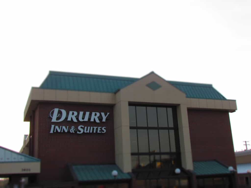 Our stay at the Drury Inn was comfortable and convenient.