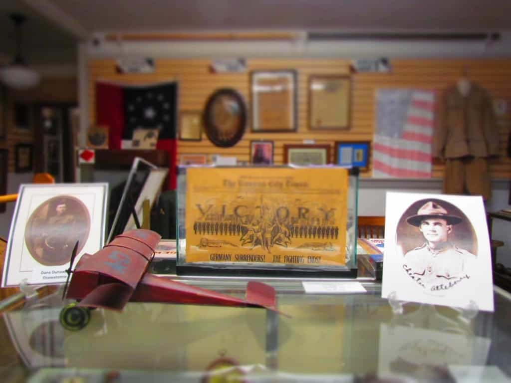 One gallery is dedicated to the men and women who served in the country's military.