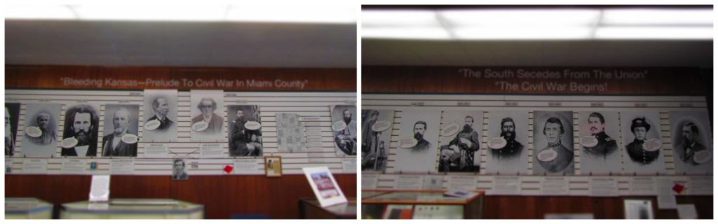 The timeline describes activities as they impacted Miami County residents.
