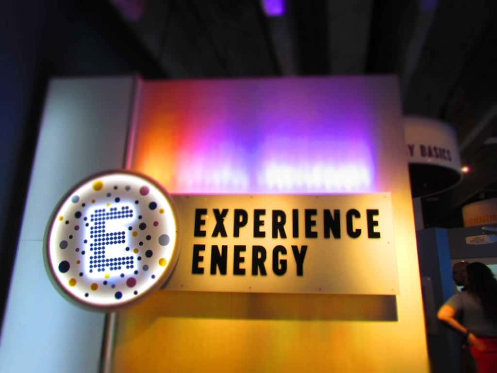 Experience energy is a collection of exhibits that teach visitors bout the importance of electricity in our everyday lives.