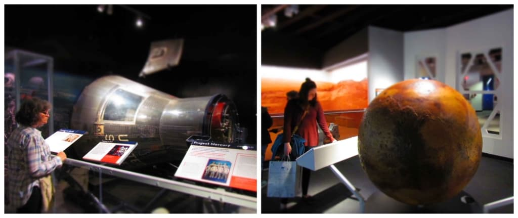 Space displays help bring the race to explore the universe to the forefront.