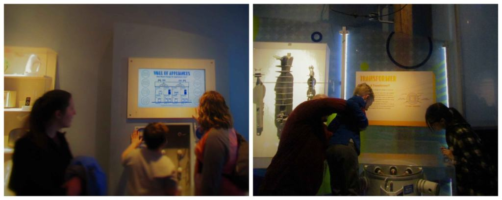 Displays show how power is created, transferred and used by people all over the country.