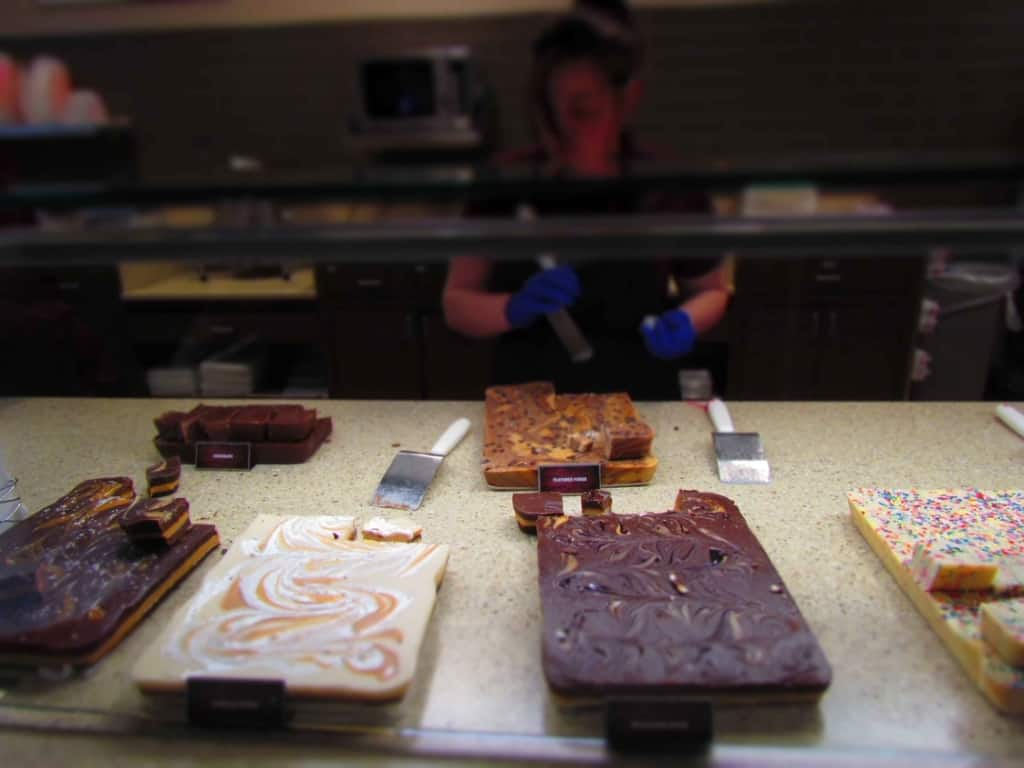 Twenty-four types of fudge can be found in Scheels deli market.