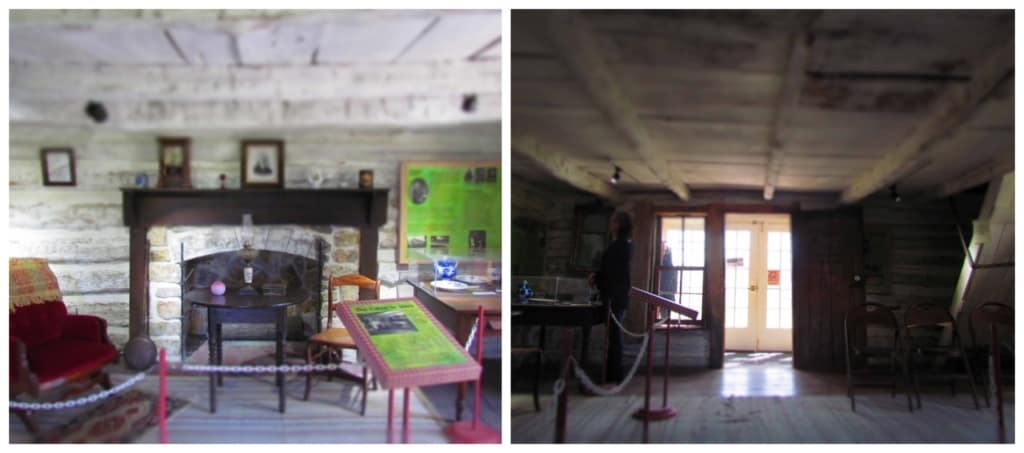 The Adair cabin is comprised of two rooms filled with period appropriate artifacts.