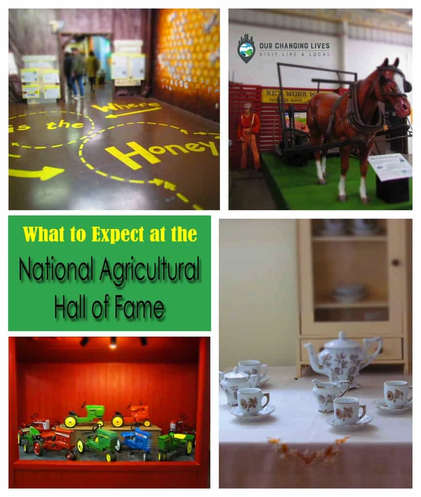 National Agricultural Center-Hall of Fame-farming-tractors-honeybees-schoolhouse-train depot-horses