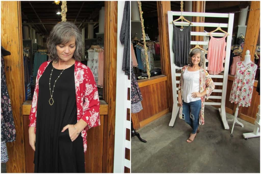 A couple of outfits that represent the styles offered at Sincerely, Ellis.