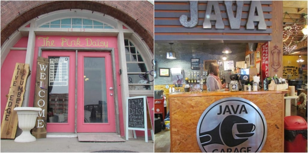 The Pink Daisy offers coffee based drinks at their Java Garage.