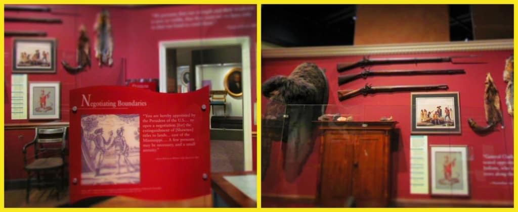 The early days of fur trapping are shown in multiple displays at the Missouri History Museum in St, Louis, Missouri.