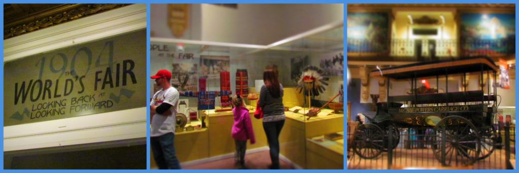 Displays focused on the 1904 World's Fair include over 250 artifacts.