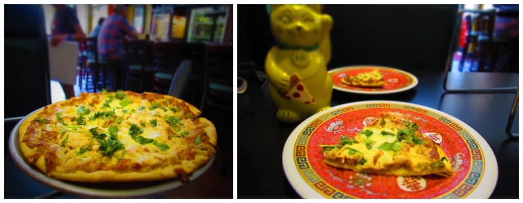 The Thai Chicken Pizza was a delicious and unexpected flavor.