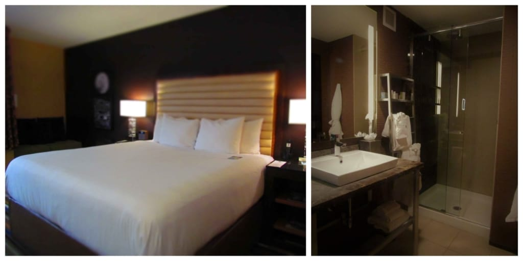 Our room at the Moonrise was comfortable and offered a modern decor.