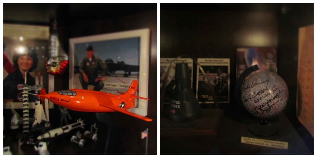 Valuable space memorabilia is displayed throughout the Moonrise Hotel.