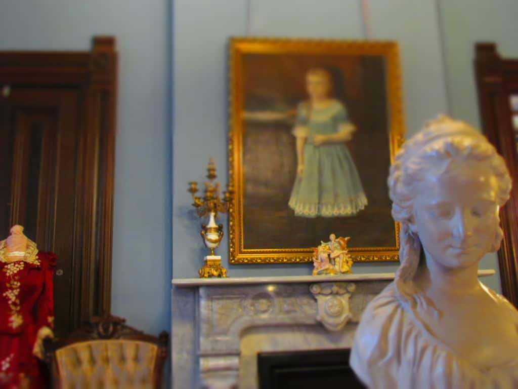 Beautiful furnishings are located throughout the house.