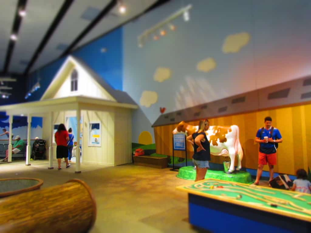 The toddler area is filled with plenty of hands-on displays for hours of interactive play time.
